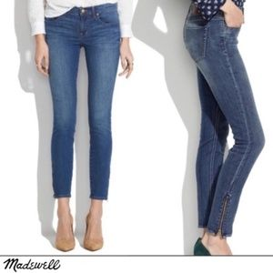 Madewell Skinny Ankle Zipper Jeans in Edgewater